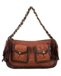 Boutique Moschino - Quilted Shoulder Bag Brown - Lyst