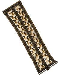 Louis Vuitton - Velvet Woven Bracelet Bronze - Lyst