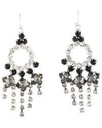 Lulu Frost - Crystal Chandelier Earrings Silver - Lyst