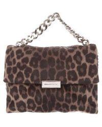 Stella McCartney - Becks Leopard Alter Pony Shoulder Bag Tan - Lyst