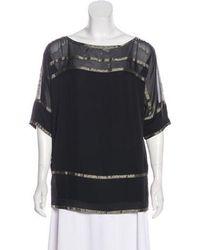 6fe5a5bee332d Diane von Furstenberg - Helix Silk Top Black - Lyst