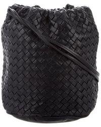 Bottega Veneta - Vintage Intrecciato Crossbody Bag Teal - Lyst