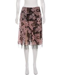 Christian Lacroix - Printed Knee-length Skirt - Lyst