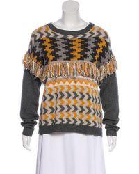 Banjo & Matilda - Abstract Pattern Long Sleeve Sweater Grey - Lyst