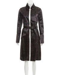Reed Krakoff - Patterned Long Coat - Lyst