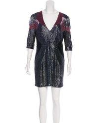 5555b7bc66 Lyst - Naeem Khan Embellished Mini Dress Beige in Natural