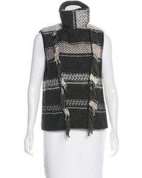 Edun - Knit Zip-up Vest Olive - Lyst