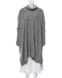 Eskandar - Wool Knit Cape Grey - Lyst