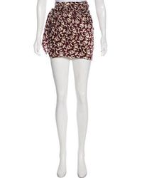 Isabel Marant - Printed Mini Skirt - Lyst
