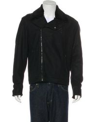 CoSTUME NATIONAL - Wool-blend Sherpa-trimmed Jacket - Lyst