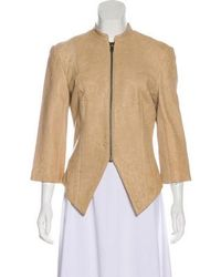 Thomas Wylde - Leather Collarless Jacket Tan - Lyst