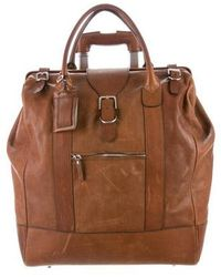 Brunello Cucinelli - Leather Rolling Luggage Brown - Lyst
