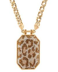 Judith Leiber - Glimmering Pattern Pendant Necklace Gold - Lyst