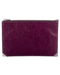 Alexander Wang - Embossed Prisma Flat Pouch Plum - Lyst