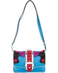Paula Cademartori - Leather Embellished Shoulder Bag Silver - Lyst