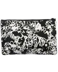 Jil Sander - Printed Woven Pouch Black - Lyst