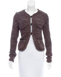 Veronique Leroy - Knit Long Sleeve Jacket Grey - Lyst