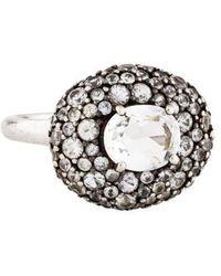 Alexis Bittar - Sapphire & Quartz Sky Marquis Pebble Ring Silver - Lyst