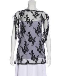 Wes Gordon - Lace And Silk Top W/ Tags - Lyst