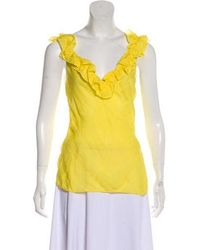 Christian Lacroix - Ruffle-accented Sleeveless Top - Lyst