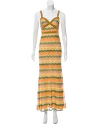 M Missoni - Chevron Maxi Dress - Lyst