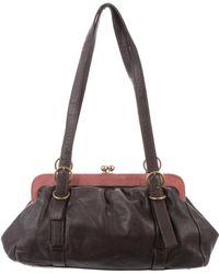 Miu Miu - Miu Bicolor Leather Bag Brown - Lyst