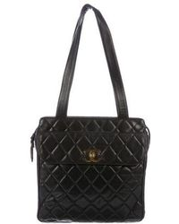Chanel - Vintage Quilted Lambskin Tote Black - Lyst