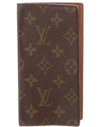 Louis Vuitton - Vintage Monogram Checkbook Cover Brown - Lyst