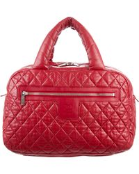 Chanel - Coco Cocoon Bowler Bag Red - Lyst