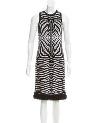 Roberto Cavalli - Knit Zebra Patterned Dress White - Lyst