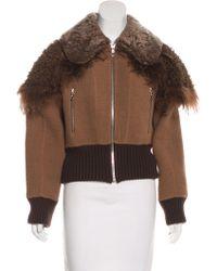 Marc Jacobs - Alpaca & Wool-blend Fur Trimmed Jacket W/ Tags - Lyst