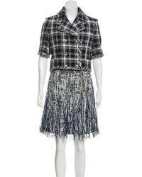 Chanel - 2018 Tweed Skirt Suit Navy - Lyst
