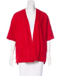Tess Giberson - Suede Short Sleeve Jacket W/ Tags - Lyst
