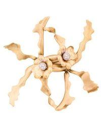 Tiffany & Co. - 18k Diamond Orchid Brooch Yellow - Lyst