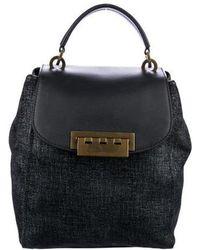 Zac Posen - Leather-trimmed Eartha Backpack Black - Lyst