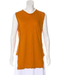Damir Doma - Distressed Sleeveless Top Orange - Lyst