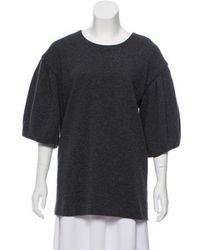 Thakoon - Wool Short Sleeve Sweater Grey - Lyst