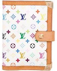 Louis Vuitton - Multicolor Small Agenda Cover White - Lyst