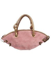 Boutique Moschino - Suede Handle Bag Pink - Lyst