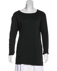 Greg Lauren - Distressed Long Sleeve Sweatshirt Grey - Lyst