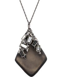 Alexis Bittar - Lucite & Crystal Pendant Necklace Silver - Lyst