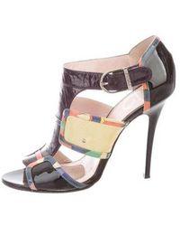 Emilio Pucci - Patent Leather Sandals - Lyst