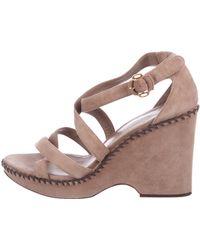 Loro Piana - Suede Platform Sandals - Lyst