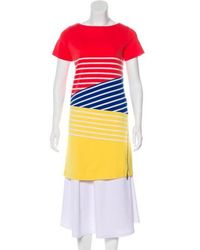 Boy by Band of Outsiders - Striped Shift Dress Coral - Lyst