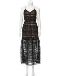 01b6678e10c7a Lyst - Self-Portrait Sleeveless Lace Maxi Dress in Black