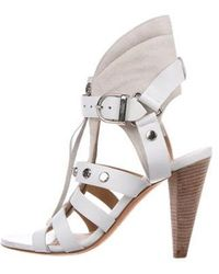 IRO - Leather Caged Sandals White - Lyst