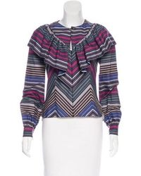Alexis Mabille - Victorian Stripe Blouse W/ Tags - Lyst