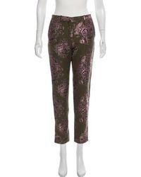 Day Birger et Mikkelsen - Floral Metallic-accented Pants Olive - Lyst
