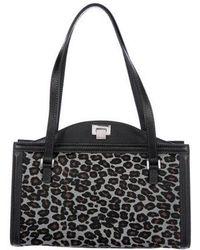 c6aa0bbfc0b5 Louis Vuitton. North-south Leopard Chenille Bag Beige.  1