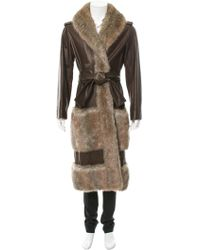 Chanel - Fantasy Fur-trimmed Leather Coat - Lyst